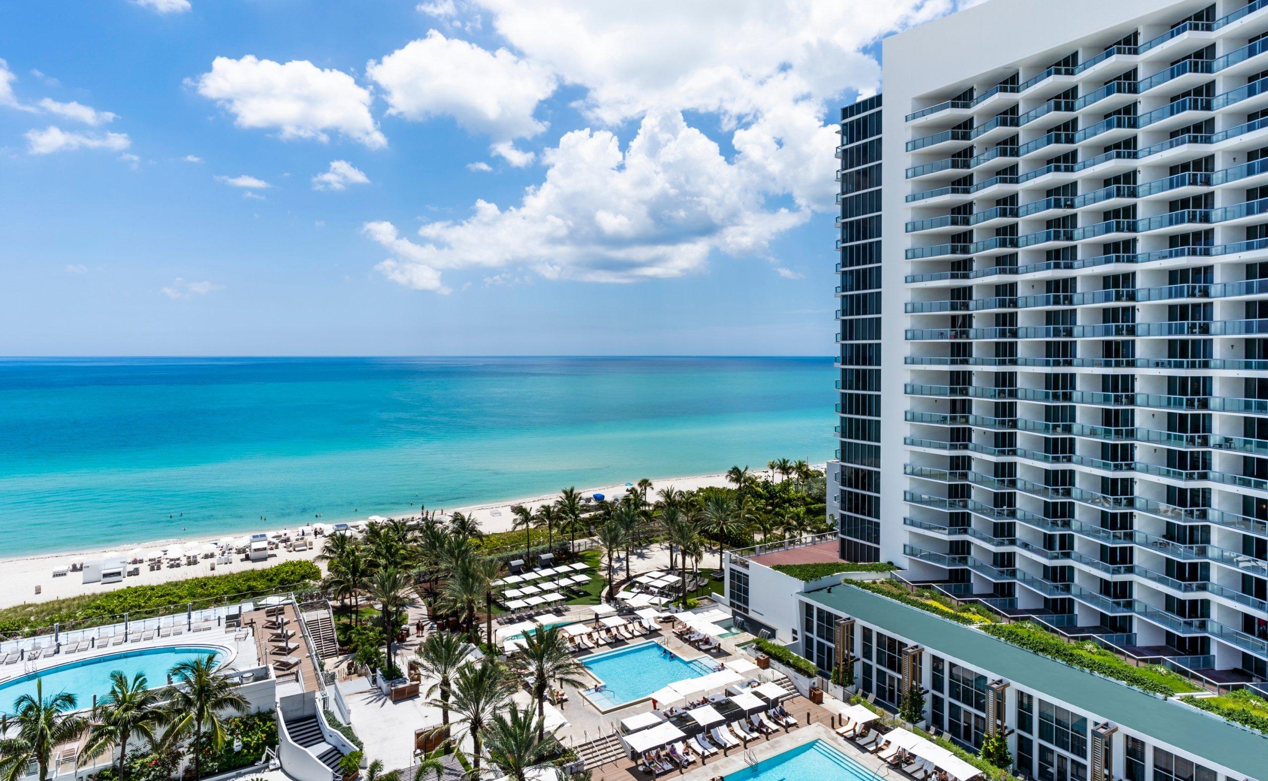 View of Beachfront Pool at Eden Roc Miami Beach