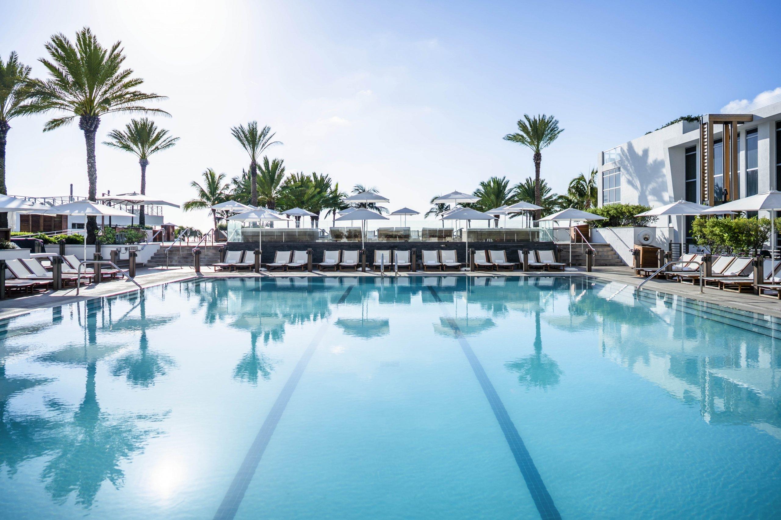 Large swimming pool at Eden Roc, Miami Beach