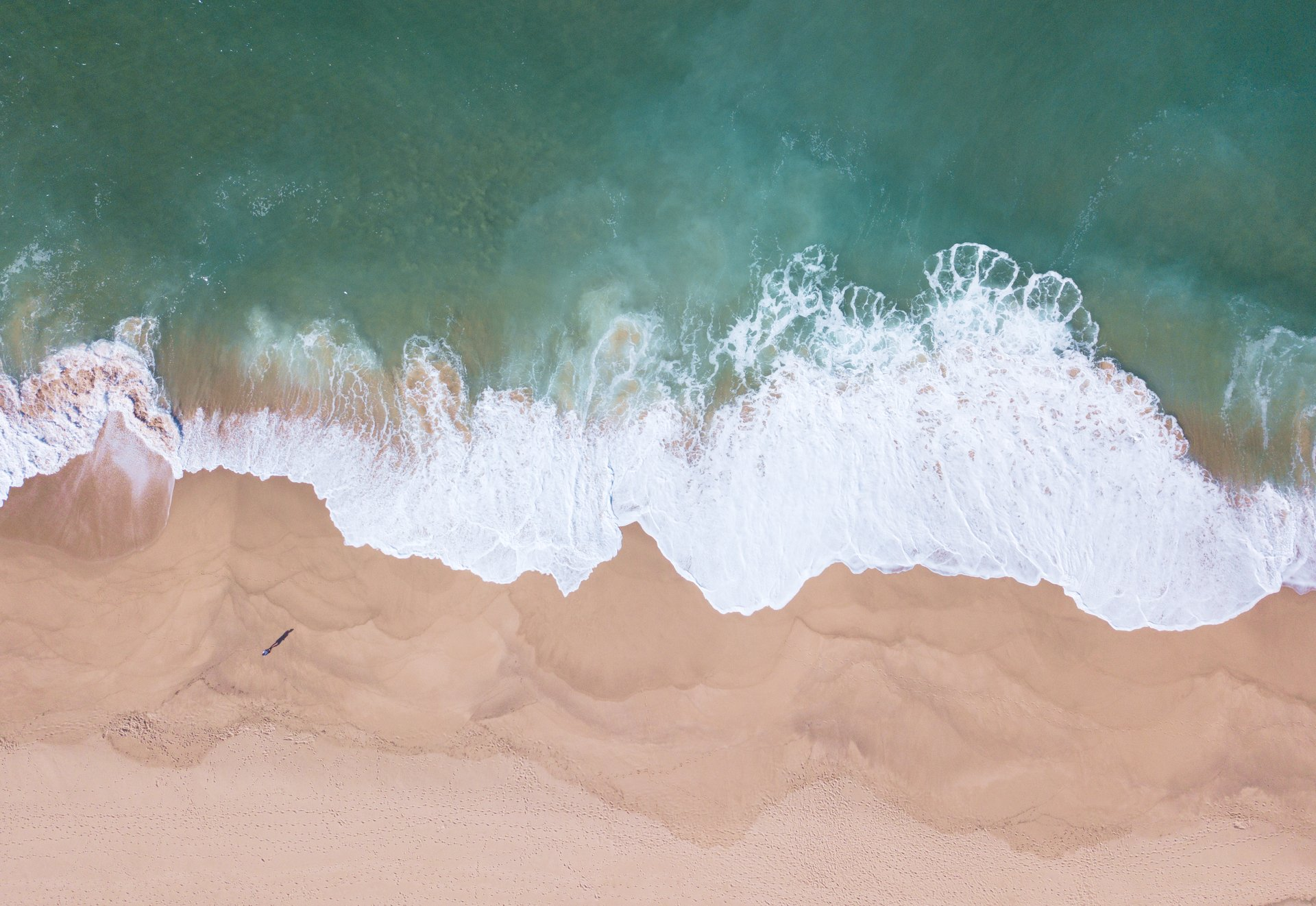 Waves lapping the beach