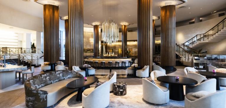 The luxurious view of Eden Roc, Miami Beach