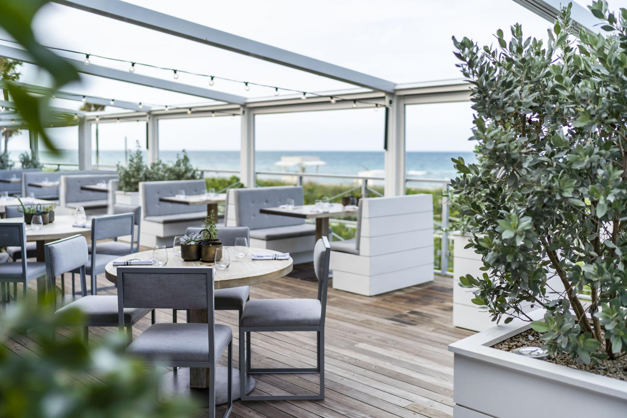 Restaurant Balcony with ocean view